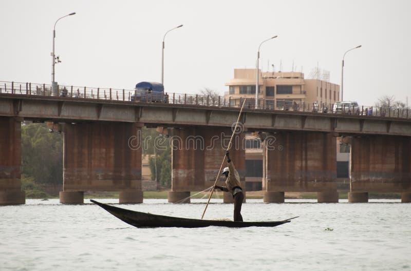 bamako bozo rybak Mali zdjęcia stock