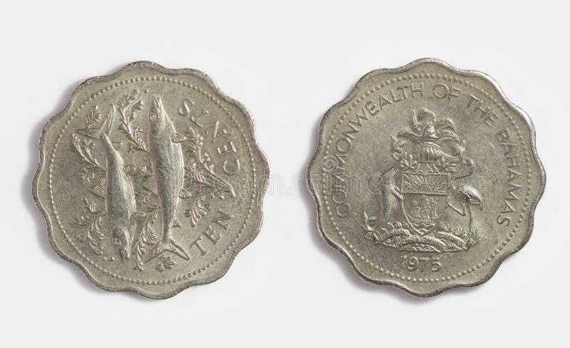 Bamamas metalu 1975 pieniądze obraz stock