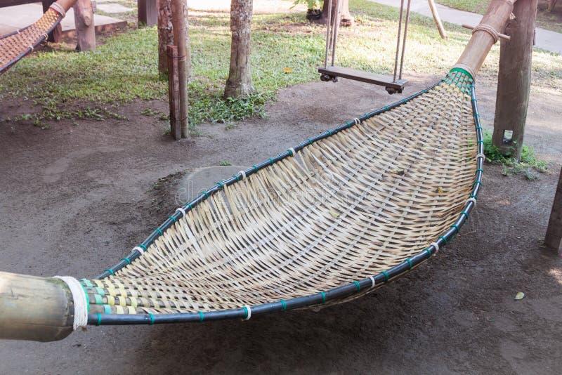 Bambù della culla in giardino fotografie stock libere da diritti