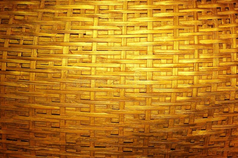 Bambù dorato scuro tessuto fotografia stock