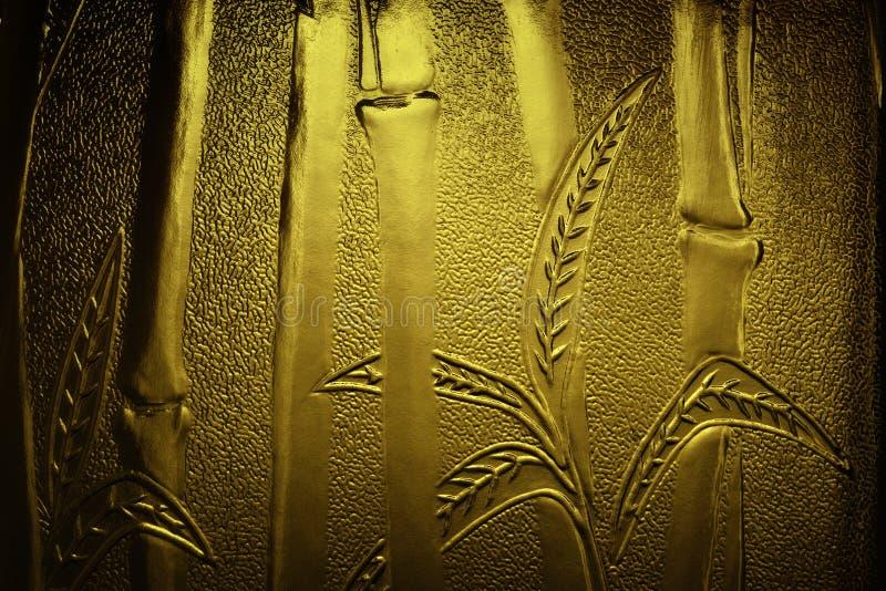 Bambù impresso dorato fotografie stock libere da diritti