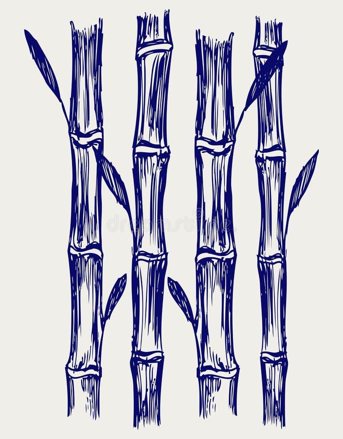 Bambù. Stile di Doodle illustrazione di stock