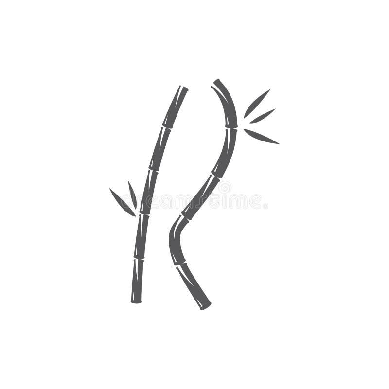 Bambú con la hoja verde libre illustration