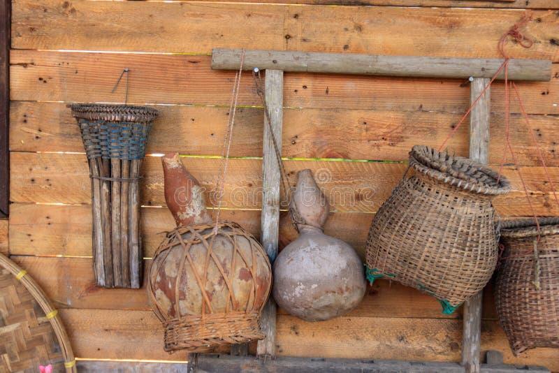 Bambú de cogida de los pescados imagen de archivo