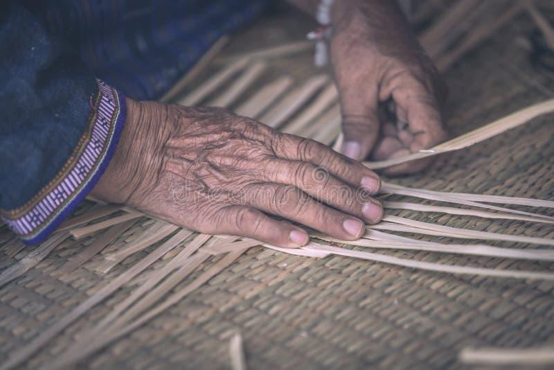 Bambú de la mano del modelo de la armadura imagen de archivo libre de regalías