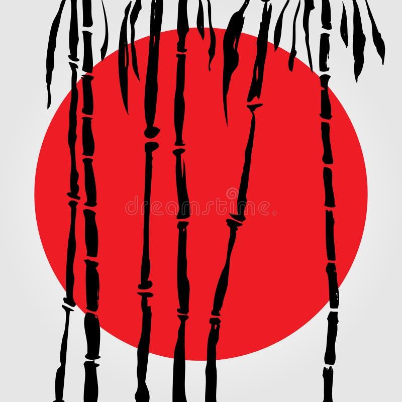 Bambú en estilo chino libre illustration