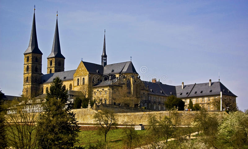 Bamberg. Fortification on the hill of Germany royalty free stock photos
