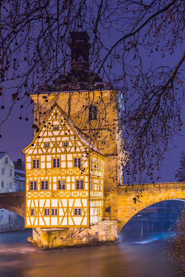 Free Bamberg At Dusk -City Hall- Germany Stock Photography - 69311702