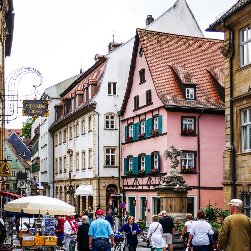 BAMBERG, Germany - Famous Medieval Town of Bamberg in Bavaria Franconia Beautiful Travel Destination royalty free stock image