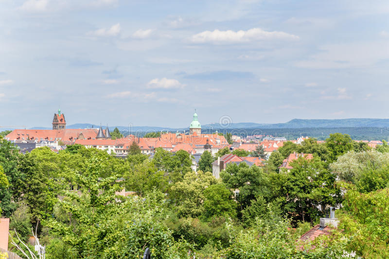 Bamberg, Germany. View of the city from one of the hills royalty free stock photos