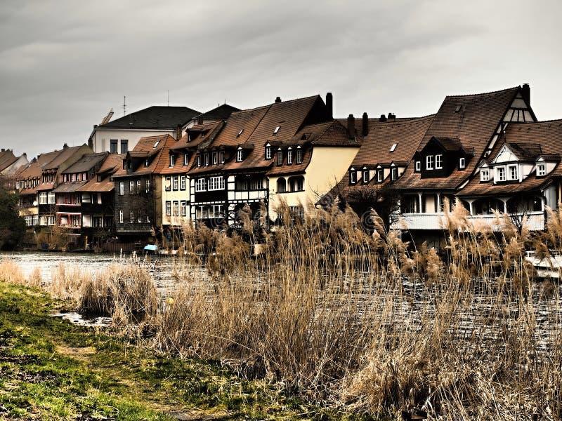 Bamberg jest antycznym Niemieckim miasteczkiem lokalizować w dolinie rzeczny Regnitz w Bavaria fotografia royalty free