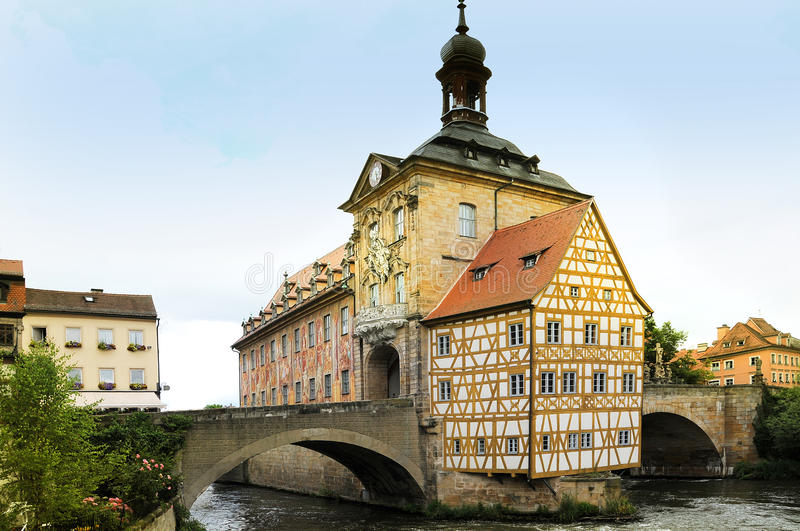 Bamberg town hall royalty free stock photos