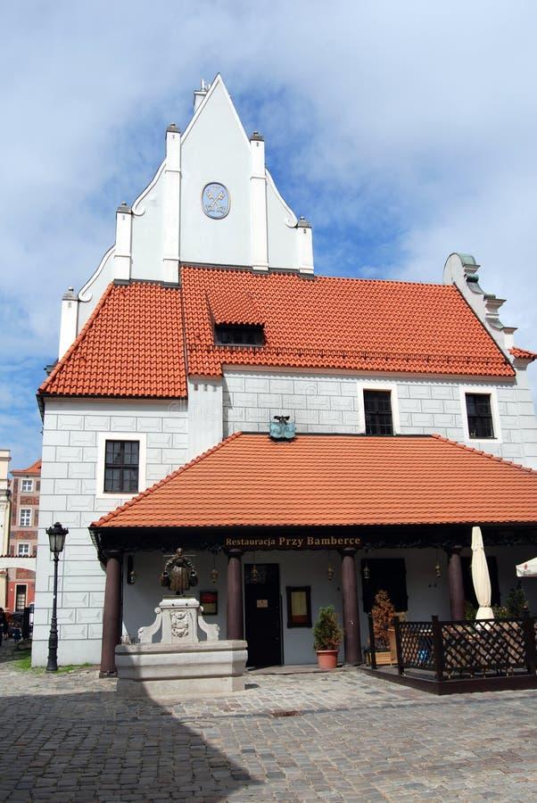 bamberger房子波兰波兹南餐馆称 库存照片