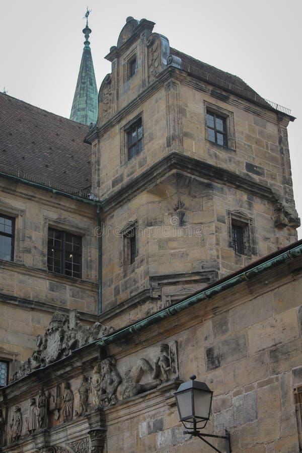Bamberger Dom Exterior arkivfoton