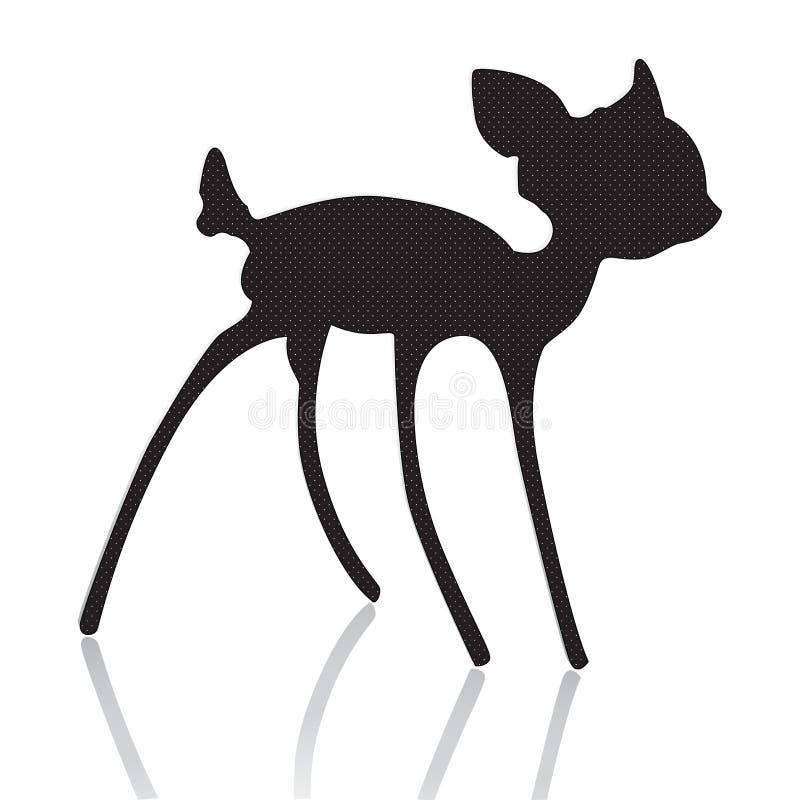 Bambi剪影向量例证 库存例证