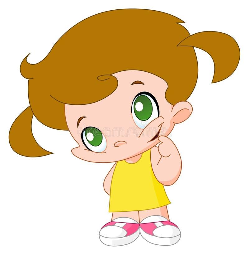 Bambina illustrazione di stock
