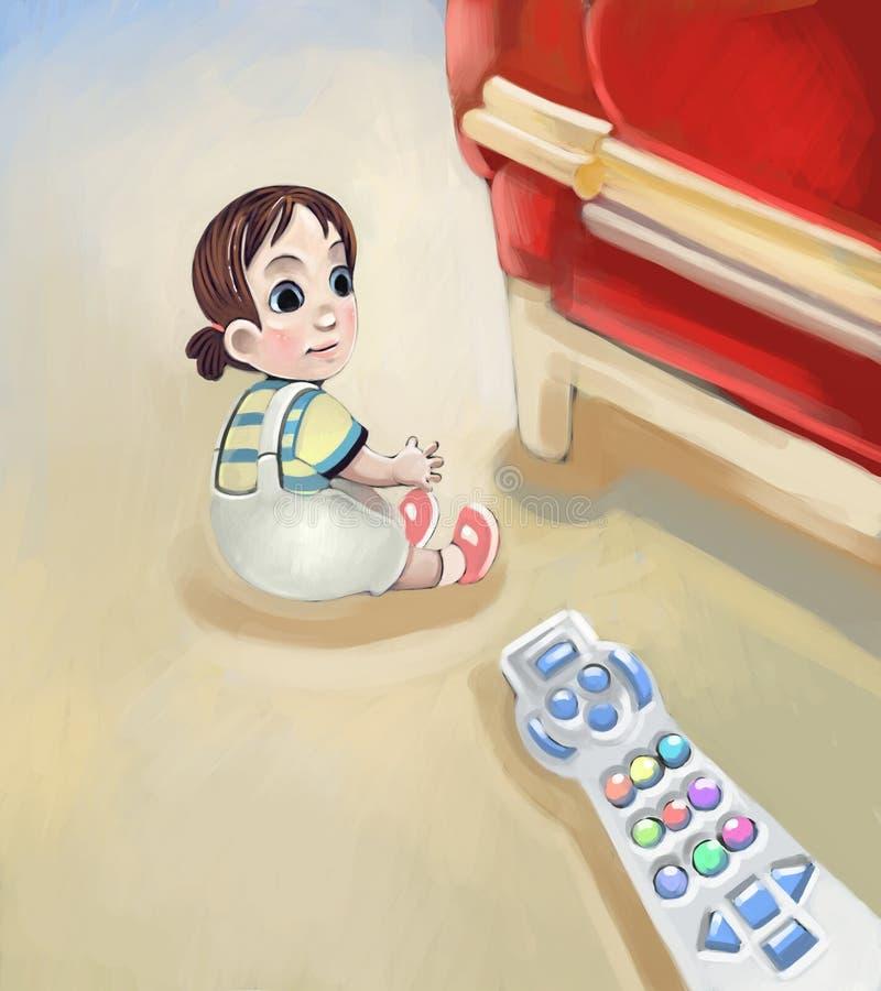 Bambina adorabile illustrazione vettoriale