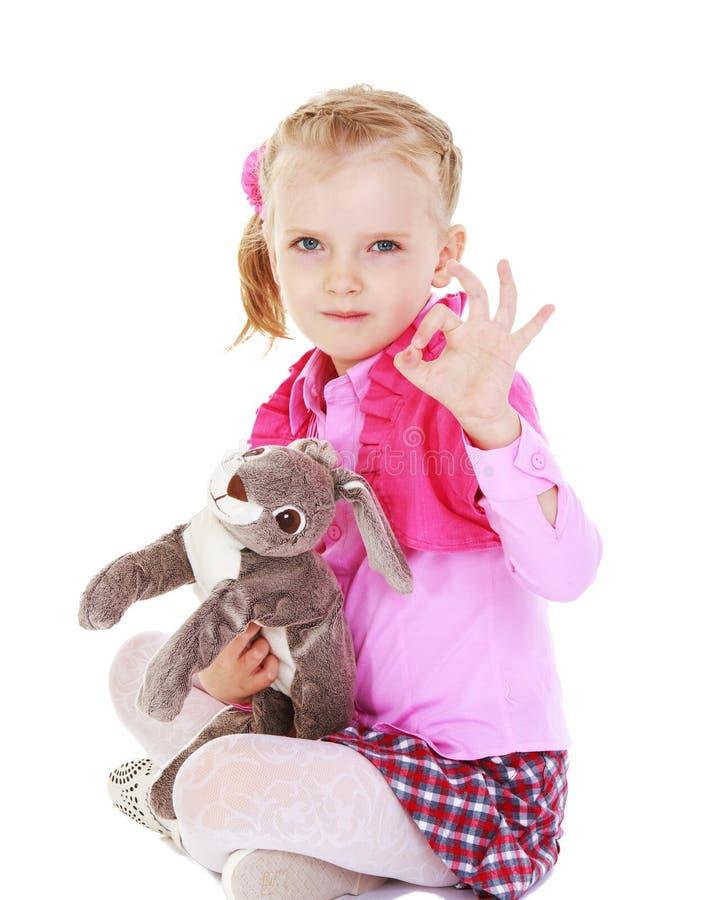 Bambina affascinante fotografie stock