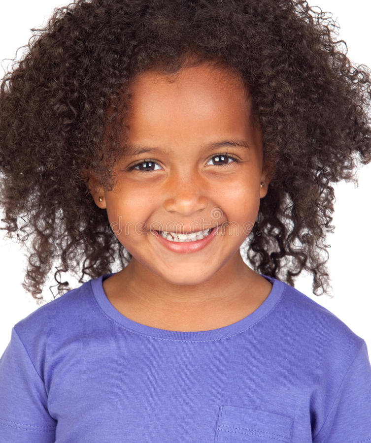 Bambina africana adorabile immagine stock