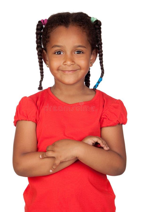 Bambina africana adorabile immagini stock