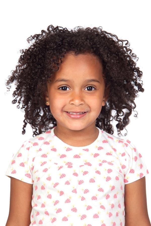 Bambina africana adorabile con bello hairst fotografie stock libere da diritti