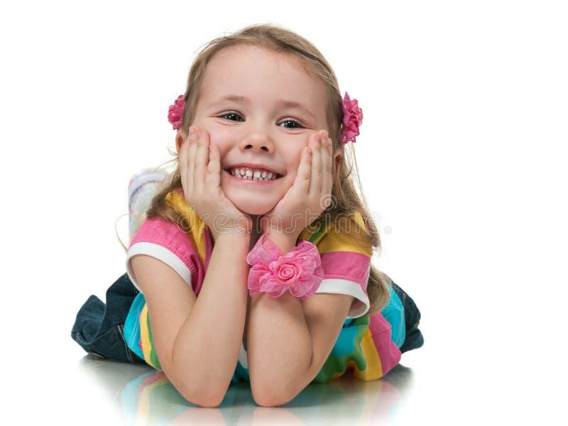 Bambina allegra immagini stock libere da diritti
