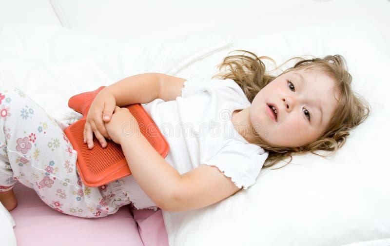 Bambina ammalata fotografia stock libera da diritti
