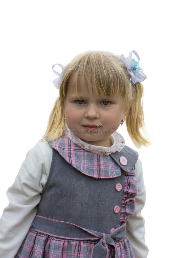 Bambina bionda isolata fotografia stock libera da diritti