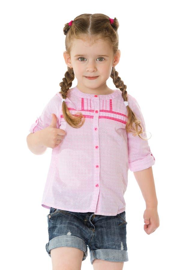 Bambina in breve immagine stock libera da diritti