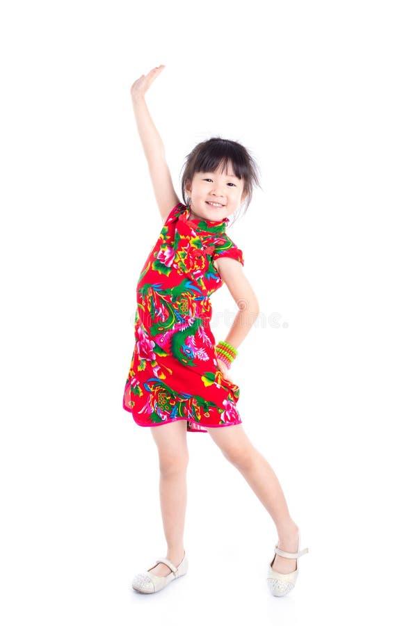 Bambina che sorride sopra il fondo bianco fotografie stock libere da diritti