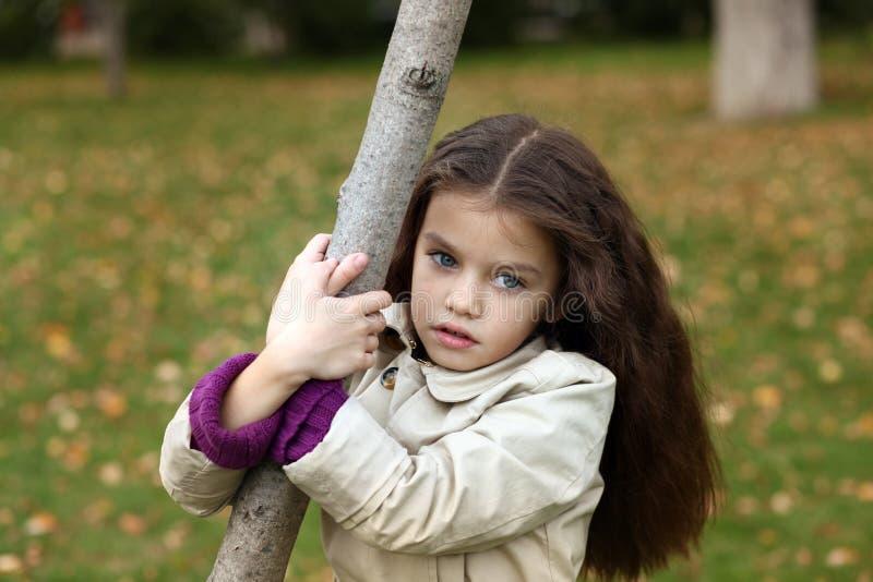 Bambina con bei capelli fotografie stock libere da diritti