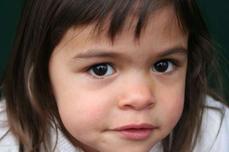 Bambina con gli occhi marroni fotografia stock