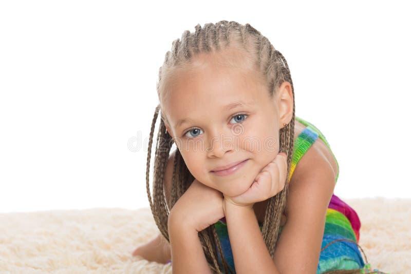 Bambina con i dreadlocks fotografia stock