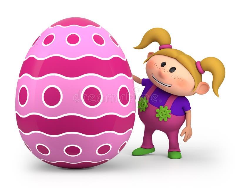 Bambina con l'uovo di Pasqua royalty illustrazione gratis