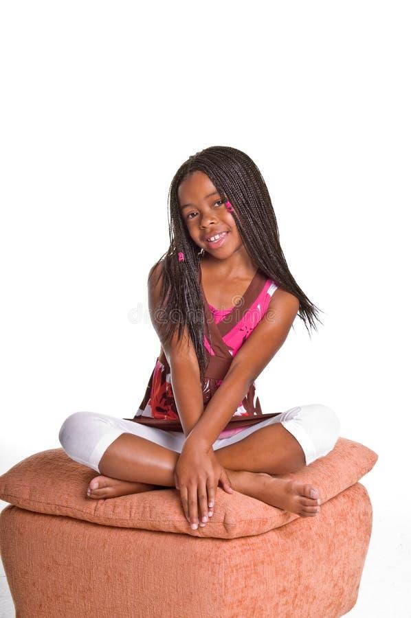 Bambina con le trecce fotografia stock libera da diritti