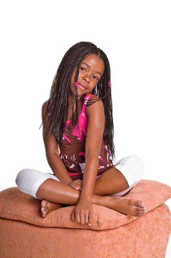 Bambina con le trecce fotografie stock libere da diritti