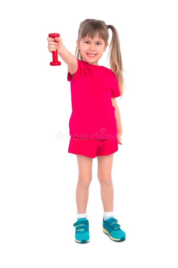 Bambina con una testa di legno immagine stock libera da diritti