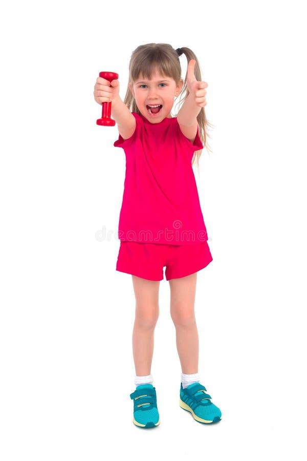 Bambina con una testa di legno immagini stock libere da diritti