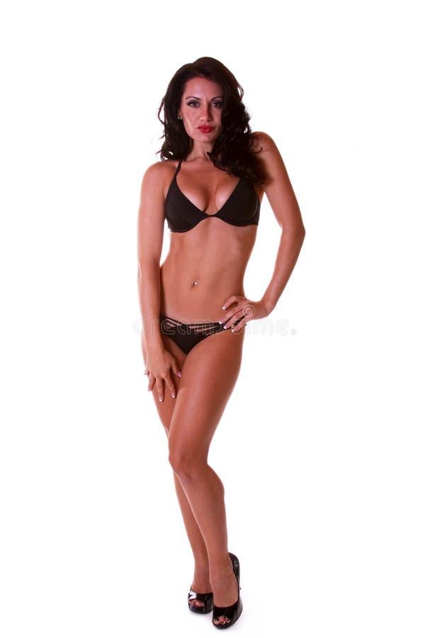 Bambina del pinup del bikini immagine stock libera da diritti