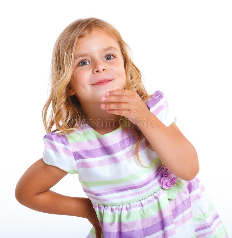 Bambina del ritratto fotografia stock