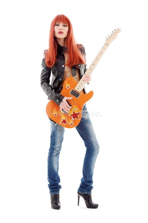Bambina della chitarra fotografia stock libera da diritti