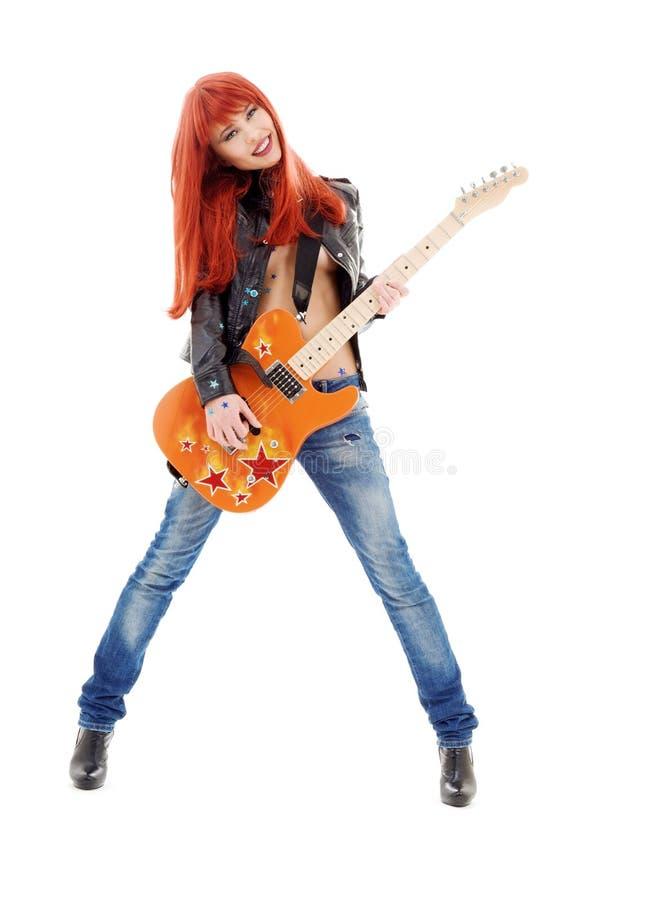 Bambina della chitarra immagini stock libere da diritti