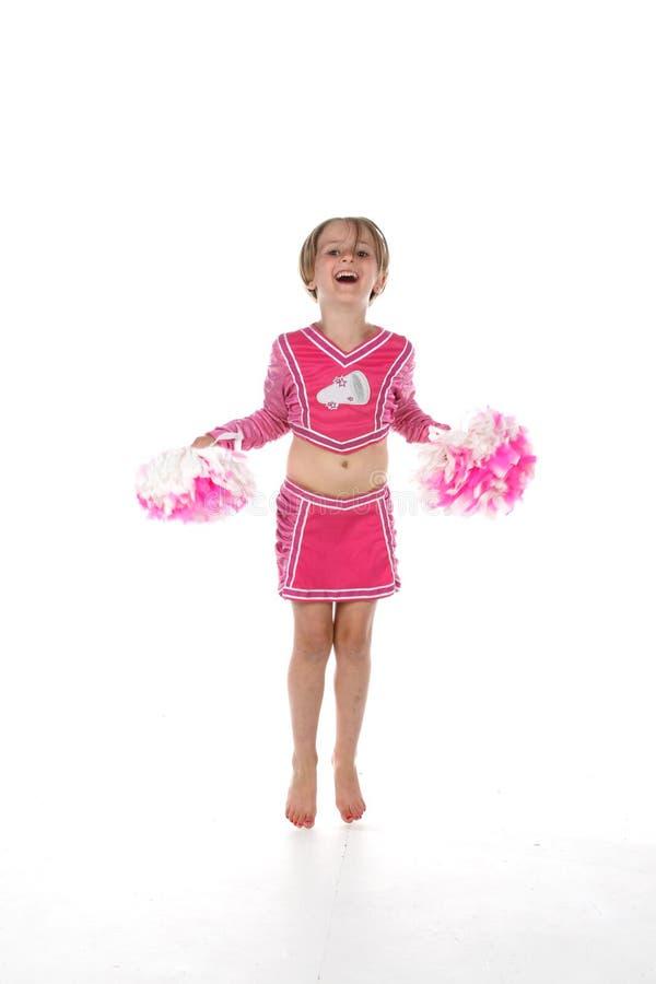 Bambina della ragazza pon pon fotografie stock