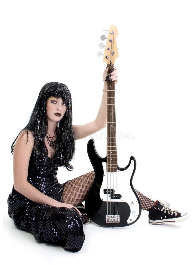 Bambina della spigola di Goth fotografia stock libera da diritti