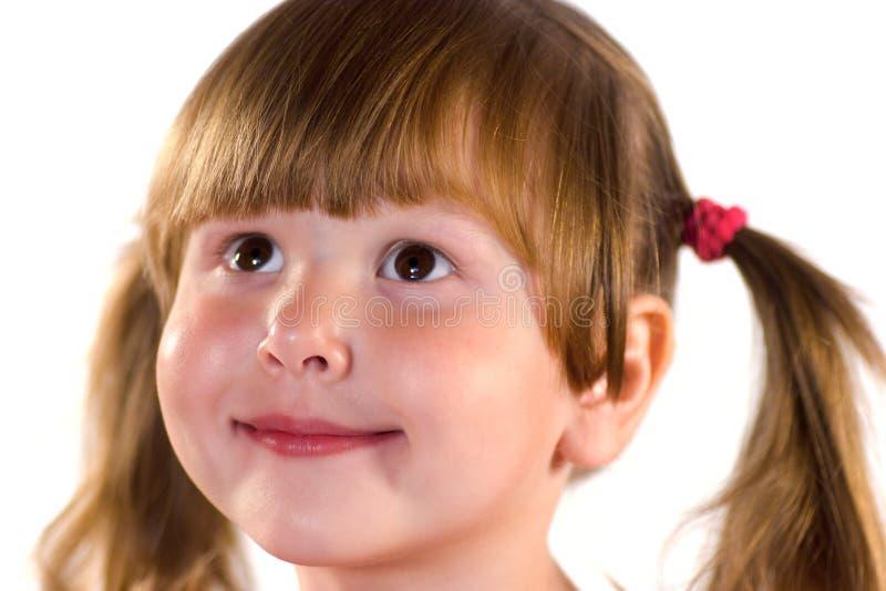 Download Bambina di sogno graziosa fotografia stock. Immagine di felicità - 3136022