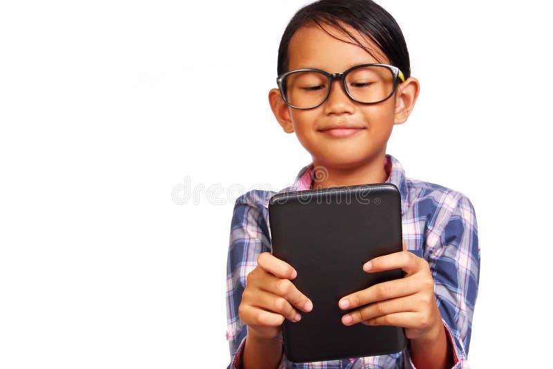 Bambina e compressa immagini stock libere da diritti