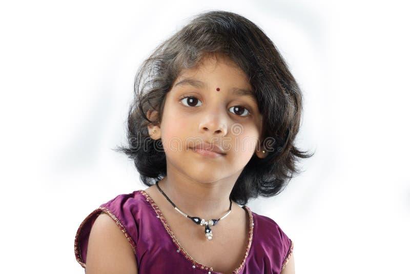 Bambina indiana immagini stock