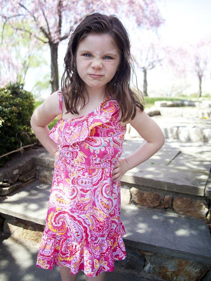 Bambina infastidita fotografia stock