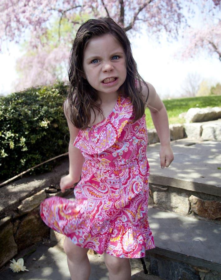 Bambina infastidita fotografie stock