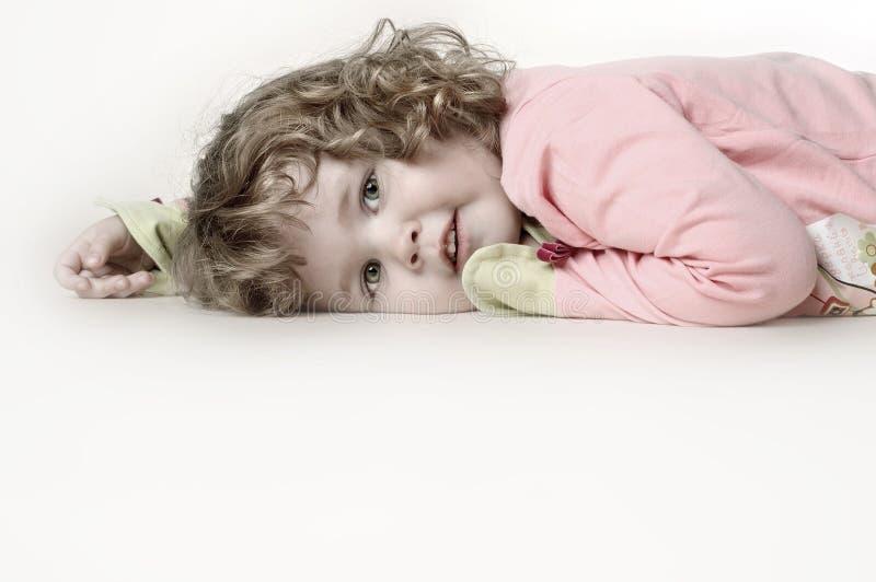 Bambina infelice immagine stock